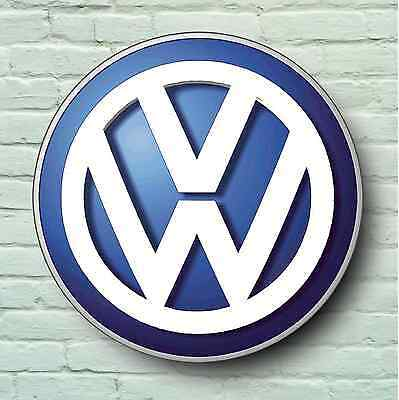 Volkswagen Large 2Ft Garage Wall Sign Picture Vw Logo Vee Dub Workshop Golf Gti