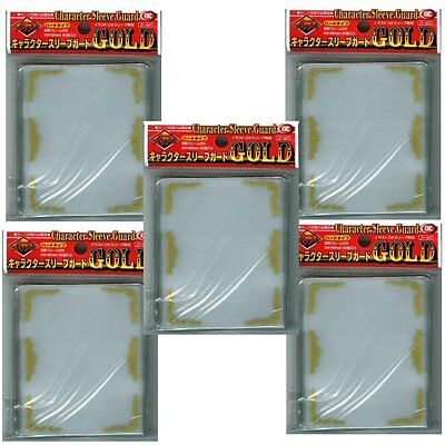 [Gold] KMC Character Sleeve Guard 60 pcs 5 Sets (5 Packs/total 300)From Japan