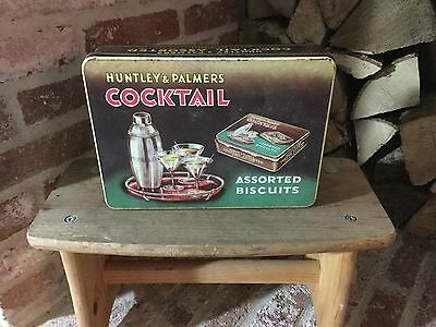 Retro Vintage 1950s Huntley & Palmers Cocktail Assorted Biscuits Tin