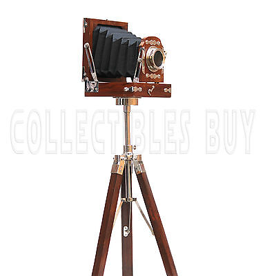 Vintage Maritime Replica Movie and Photography Decor Camera Medium Size Tripod
