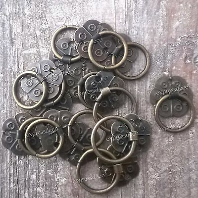 10 Mini Drawer Pull Vintage Handle Cabinet Knob Home French Furniture Iron