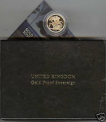 Boxed 2007 Proof Gold Full Sovereign With Certificate
