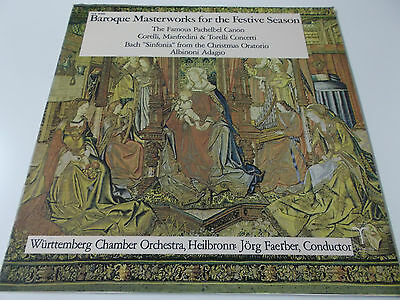 Baroque Masterworks For The Festive Season - 1976 Vinyl Lp Made In U.s.a.