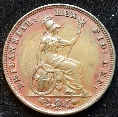 1831 Farthing. Scarce Year. High Grade With Beautiful Red Lustre. Dies 1 + A