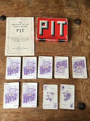 Pit Card Game Vintage Bull and Bear Edition Boxed Complete John Waddington