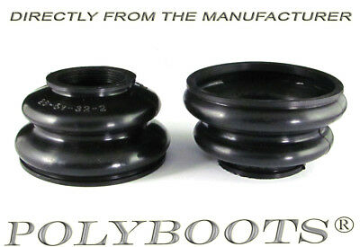 2x Polyboots Dust Boots 26x51x32 mm Tie Rod End and Ball Joint Boots Large Size