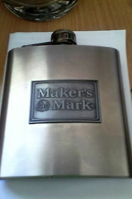 makers mark bourbon 6oz stainless steel flask