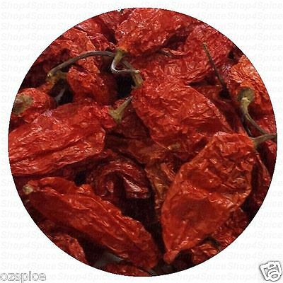 Ghost Pepper - 10g -  (Whole Dry)  Chili Naga Bhut Jolokia - ozSpice