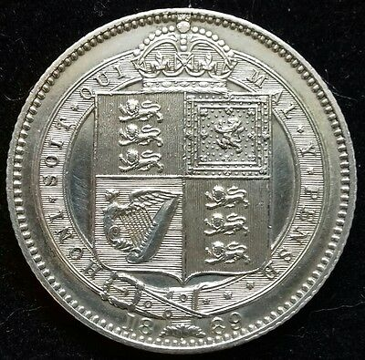 1889 Jubilee Large Head Shilling. Superb Condition. Victoria British Silver Coin