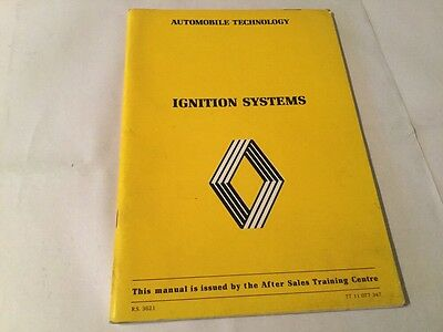 Renault Ignition Systems Automobile Technology issued by After Sales Training