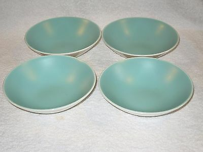 Poole Pottery TwinTone Ice Green 4 x  6.25 inch BOWLS - VINTAGE