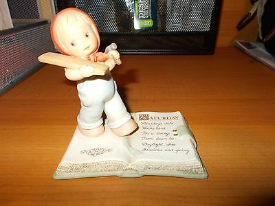 """Enesco Memories of Yesterday """"SATURDAYS CHILD WORKS HARD FOR A LIVING"""" #531383"""