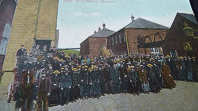 Old Postcard Employees Of Hounsell & Co North Mills Bridport Dorset