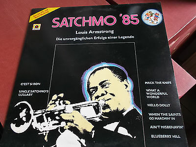 Louis Armstrong: Satchmo '85: Vinyl Lp Made In Holland: 1985: Cbs
