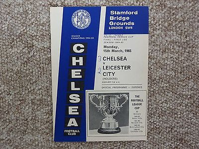 Chelsea v Leicester City League Cup Final 1st leg 1964/65 in excellent condition