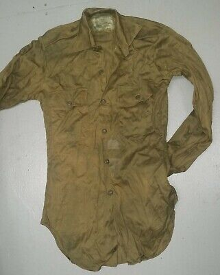GRADE 2-3 USED AUSTRALIAN ARMY VIETNAM GREEN SHIRTS - GENUINE 1980's MADE
