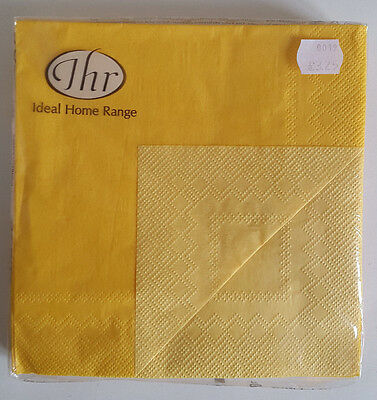 5 packs of Paper Napkins. Lunch 33x33cm. 3ply Doublo Yellow Design. DL2570