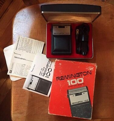 Vintage Plus! - Remington 100 by Sperry Rand - Electric Shaver Box Manuals 1967