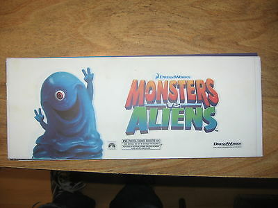 Theater Marquee Mylar Monsters Vs Aliens