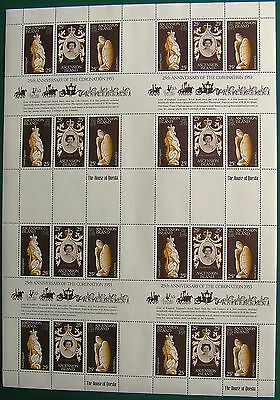 ASCENSION ISLAND 1978 25th ANNIVERSARY OF CORONATION COMPLETE SHEET MNH