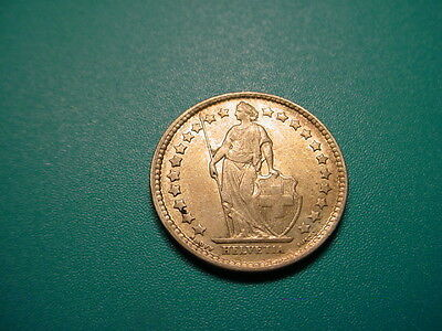 Switzerland~Very Scarce 1877-B 1/2-Franc in Excellent Condition!