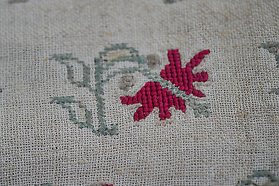Rare And Early Antique Embroidery Sampler On Linen 16Th Century