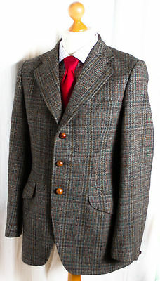 Dunn & Co Jacket Vintage 1960s Harris Tweed 39L (100L) Hacking Blazer Small/Med