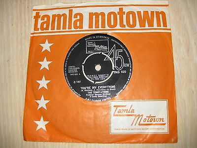 The Temptations Uk 45 You're My Everything 1967 Ex+ Top Copy