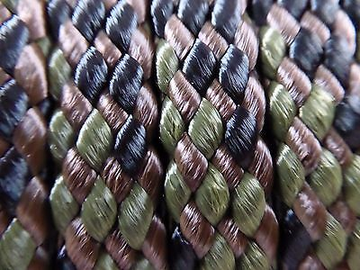 """1/2""""x 200 ft. hollow/flat braid polyester rope hank.High Quality. Camo.USA"""