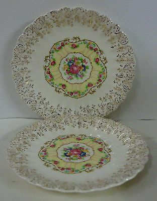 """American Limoges TOLEDO DELIGHT WHITE 6-3/8"""" Bread Plates SET OF TWO"""