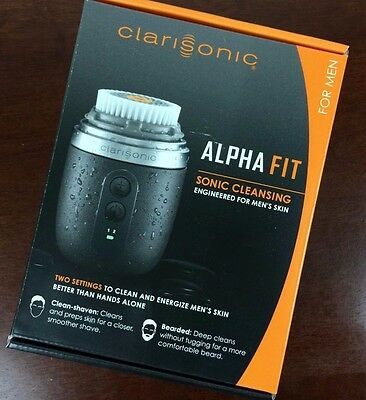 New Clarisonic Alpha Fit Sonic Cleansing Facial Engineered System For Men's Skin