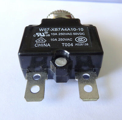1 pc, 10A resettable circuit breaker by TYCO, P/N 1423675-7