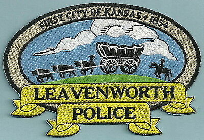 Leavenworth Kansas Police Patch Covered Wagon!