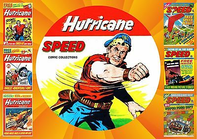 Hurricane + Speed Comics Complete On Printed Dvd Rom