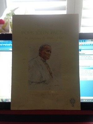 Official Programme From The Pope John Paul Visit To England In 1982
