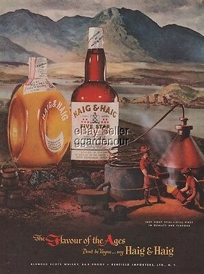 1951 Haig Scotch Pinch Five Star Whisky Scotland Moonshine Still print bottle ad
