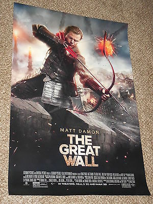 "THE GREAT WALL ""C"" vg 27x40 ORIGINAL D/S MOVIE POSTER"