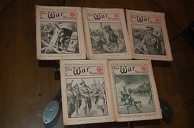 The War Illustrated WW1 Great War 5 magazines ~ Vol 7 #171 to #175 ~ 1917