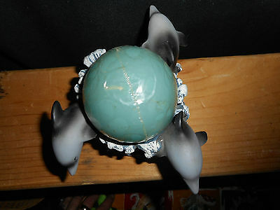 Dolphin Candle Holder W/candle