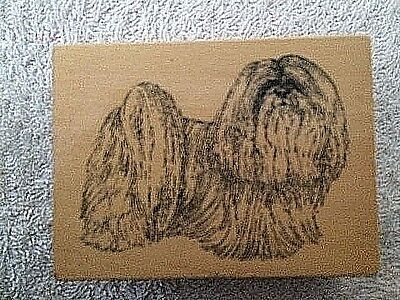 Lhasa Apso Dog Rubber Stamp for Scrapbooking  NEW
