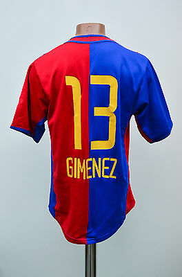Basel Switzerland Match Issue Home Football Shirt Jersey Nike Gimenez #13