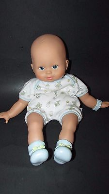 Fisher Price Baby So New Doll Little Mommy blue eyes booties bracelet boy twin