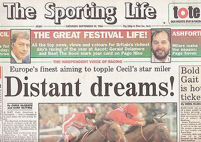 "The Sporting Life Newspaper - Saturday September 24, 1994  ""QEII"""