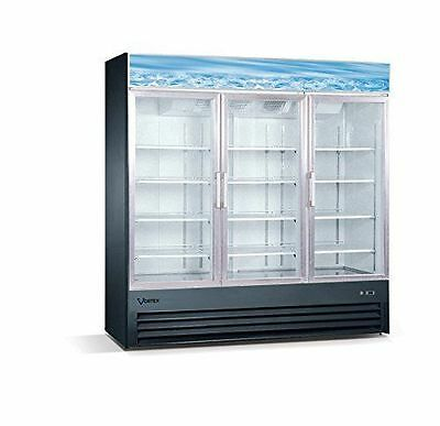 VORTEX REFRIGERATION 3 Glass Door 72 CF Commercial Merchandiser Freezer V-3GDF-B