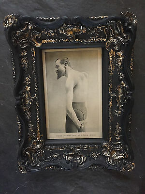 Framed Antique RRPC - OSCO Broken Man of Bahia - Double Jointed Circus Sideshow