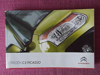 Citroen C3 Picasso Owners Manual - Owners Guide - Owners Handbook.(Ci 509)