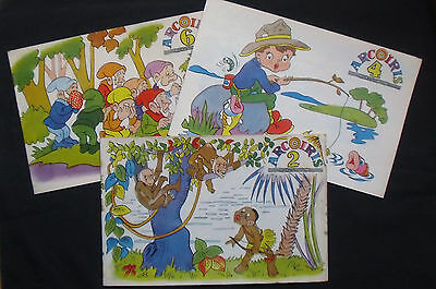 ARCOIRIS,3 x issues of VINTAGE SPANISH Colouring Books/Comic format.RARE ITEMS