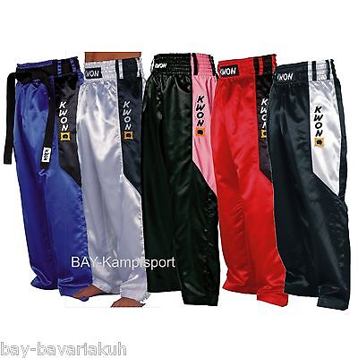 KWON Club Line Kickboxing pants Satin Trousers red blue black