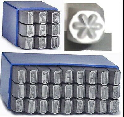"""*Steel stamps letters A - Z, numbers 7 mm height + Star """"6-points"""" 7 mm height*"""