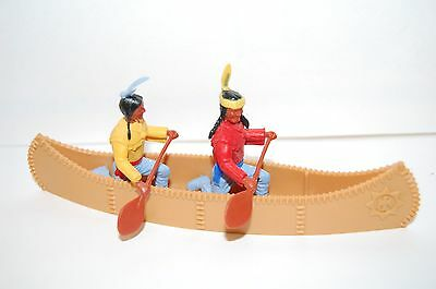 Vintage Timpo Indians And Canoe